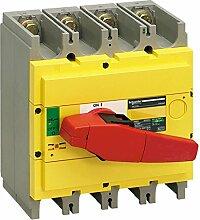 Schneider 31129 Lasttrennsch. ins320, 4P, 320A/690V AC/250V DC, Drehantrieb rot/Grund gelb