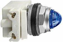 Schneider 9001KP35LLL9 Leuchtmelder Durchmesser 30, blau, mit LED hoher Leuchtkraft, BA 9S, 24V AC/DC, IP66