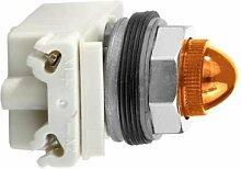 Schneider 9001KP38A9 Leuchtmelder Durchmesser 30, gelb (Amber), mit Glühlampe BA 9S, 120 V AC/DC, IP66