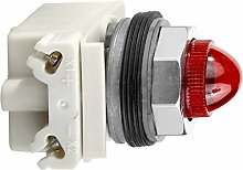 Schneider 9001KP38R9 Leuchtmelder Durchmesser 30, rot mit Glühlampe BA 9s, 120 V AC/DC, IP66