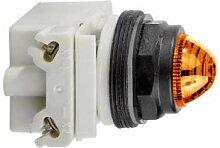Schneider 9001SKP35A9 Leuchtmelder Durchmesser 30, gelb (Amber), mit Glühlampe BA 9S, 24 V AC/DC, IP66