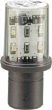 Schneider DL1BDB8 LED-Lampe, gelb-orange für Befehls- und Meldegeräte, Ba 15D, 24 V