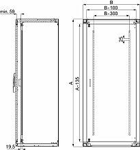 Schneider ELEC Pue–Mam 3811–Innentür sf-sm 2200x 600mm