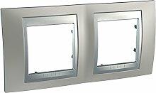 Schneider Electric unicatop Platte 2Stellen Aluminium Paspel, beige, SC5MGU66004039F