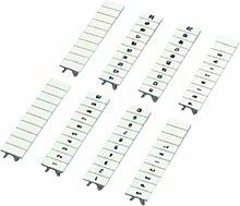 Schneider NSYTRAB5L1N Einsteckbares Markierstreifen, 10 Str., gedr. Zeichen L1, L2, L3, N, PE, Weiß, 5 mm