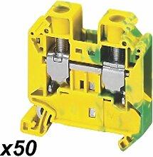 Schneider NSYTRV162PE Linergy Erdungsklemme, 16mm², 101A, Eine Ebene, 1x1, Schraube, Grün-Gelb
