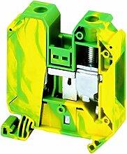 Schneider NSYTRV352PE Linergy Erdungsklemme, 35mm², 125A, Eine Ebene, 1x1, Schraube, Grün-Gelb