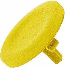 Schneider ZBL5 Tastenschild, gelb, Unbeschriftet für Runden Vorstehenden Drucktaster Ø22