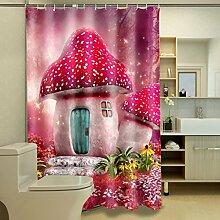 Schnell trocknender Duschvorhang 100% Polyester Duschvorhang Wasserdicht und Schimmel Badezimmer Trennwand 3D Foto Duschvorhang Umweltschutzmaterial ( größe : 180*200cm )