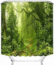 Schnell trocknender Duschvorhang 3D Creative Digital Printing Polyester Stoff Duschvorhang Wasserdicht und Mehltau Badezimmer Trennwand Vorhang Umweltschutzmaterial ( größe : 200*180cm )