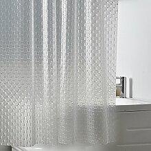 Schnell trocknender Duschvorhang 3D Glassy Translucent Duschvorhang Wasserdicht Verdickung Moldy Badezimmer Trennwand Vorhang Umweltschutzmaterial ( größe : 300*180cm )