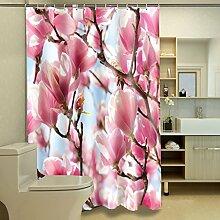 Schnell trocknender Duschvorhang 3D personalisierte Duschvorhang Polyester wasserdicht Moldy Badezimmer Trennwand Vorhang Umweltschutzmaterial ( größe : 180*180cm )