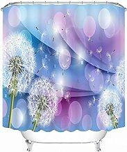 Schnell trocknender Duschvorhang 3D Polyester Wasserdichte Badezimmer Duschvorhänge Badezimmer Trennwand Vorhänge Umweltschutzmaterial ( größe : 180*180cm )