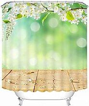Schnell trocknender Duschvorhang 3D Polyester wasserdichte Duschvorhänge Badezimmer Digitaldruck Partition Hängen Vorhang Umweltschutzmaterial ( größe : 180*200cm )