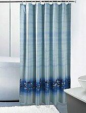Schnell trocknender Duschvorhang Badezimmer Duschvorhang Dicker Polyester Tuch Wasserdicht Schimmelfreie Duschvorhang mit Haken Umweltschutzmaterial ( größe : 80*200cm )