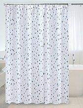 Schnell trocknender Duschvorhang Badezimmer Duschvorhang Warm Vorhang Teleskop Stange Dusche Vorhang Stange Duschvorhang Set mit Bad Rod und Haken Umweltschutzmaterial ( größe : 200*200cm )