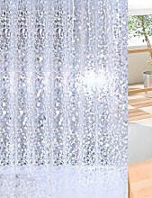 Schnell trocknender Duschvorhang Badezimmer Duschvorhang Wasserdichte Duschvorhang Warm dicker Badvorhang mit Haken Umweltschutzmaterial ( größe : 180*220cm )