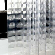 Schnell trocknender Duschvorhang Badezimmer Duschvorhang Wasserdichter Vorhang Anti-Schimmel Duschvorhang Dicker Duschvorhänge (Größe optional) Umweltschutzmaterial ( größe : 180*200cm )