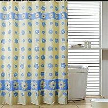 Schnell trocknender Duschvorhang Dick Wasserdichte Polyester Duschvorhang Badezimmer Duschvorhang Tuch Trennwand Vorhang Vorhang Umweltschutzmaterial ( größe : 150*180cm )