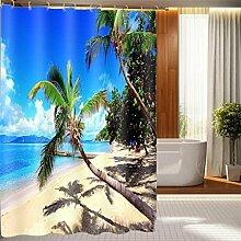 Schnell trocknender Duschvorhang Kreative 3D Duschvorhänge Wasserdichte Duschvorhänge Badezimmer Trennvorhang Vorhänge Umweltschutzmaterial ( größe : 200*180CM )