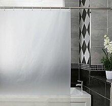 Schnell trocknender Duschvorhang Pure White Hotel Badezimmer Duschvorhang Mehltau Dick Wasserdichte Bad Vorhang Partition Umweltschutzmaterial ( größe : 200*180cm )