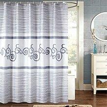 Schnell trocknender Duschvorhang Wasserdichte dicke Duschvorhang Polyester Badezimmer Trennvorhang Umweltschutzmaterial ( größe : 180*180cm )
