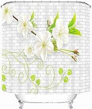 Schnell trocknender Duschvorhang Wasserdichte Duschvorhang Anti - Form Duschvorhang Badezimmer Duschvorhang mit Haken Umweltschutzmaterial ( größe : 180*180cm )