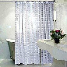 Schnell trocknender Duschvorhang Wihte Badezimmer Duschvorhang Verdickte Wasserdichte Badezimmer Duschvorhang (viele Größen) Umweltschutzmaterial ( größe : 200*240cm )