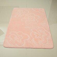 Schnittblumen Teppich Entstaubung Türmatten Badezimmer Küche Rutschfest Absorbierendes Pad , pink , 1000mm x 1500mm