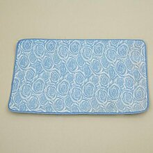 Schnittblumen Teppich Reiben Erde Entstaubung Türmatten Badezimmer Küche Rutschfest Absorbierendes Pad , blue , 500mm x 800mm