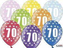 Schnooridoo 70.Geburtstag - 24 Bunte Luftballon -