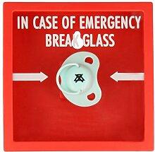 Schnuller Alarm Notfallkasten tolle Geschenk Idee zur Geburt Schnullerbox Schnulleraufbewahrung