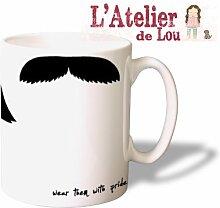 Schnurrbart choose your moustache keramisch Kaffeetasse Kaffeebecher - Originelle Geschenkidee - Spülmaschinenfes