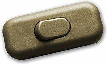 Schnurschalter Zwischenschalter golden 2A/230V
