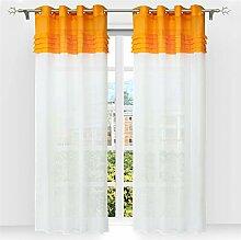 SCHOAL Gardinen mit Ösen Transparente Vorhänge
