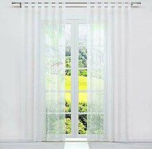 SCHOAL Transparente Gardinen mit Schlaufen Vorhang