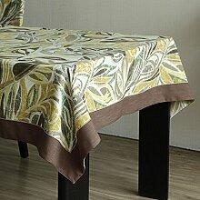 Schön Tuch Tischdecke Leinen frische Tischdecke TV-Schrank Couchtisch Tuch pastorale Retro-Tapete Einzelne Tischdecke (4 Farben optional) (Größe optional) dauerhaft ( Farbe : C , größe : 140*180CM )