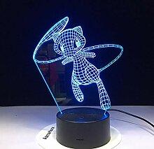 Schöne 3d lampe 7 farben led nacht lampen für