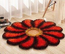 Schöne / Art und Weise romantische Blumenblatt-Kunst-Teppich / Fußmatten / Kunst-Teppich für Schlafzimmer , orange