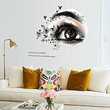Schöne Augen Muster wandaufklebern Personalisierte dekorative Wand Aufkleber bar Wohnzimmer Fernseher Sofa Hintergrund wall sticker aufkleber Entfernen Einfügen