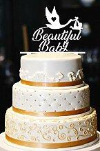 Schöne Baby Cake Topper, Storch Cake Topper,