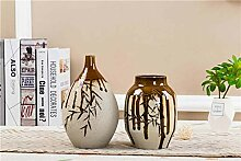 Schöne Bambus glasierte keramische Vase