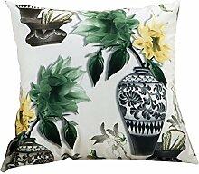 Schöne Blume Gedruckt Werfen Kissenbezug Sofa Kissenbezug Home Decor,14