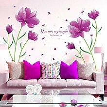 Schöne Blumen Schmetterling Wandaufkleber Auf Dem