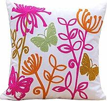 Schöne Blumenstempel Gedruckt Quadratische Wurf Kissenbezug Sofa Kissenbezug,6