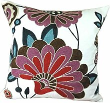 Schöne Blumenstempel Sofa Throw Pillow Case Kissenbezüge,4