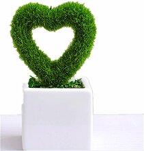Schöne Einrichtung Künstliche Pflanzen LOVE Dekoration Grün Heckenschere Set–meiyaa Succulents Mini Topfpflanzen