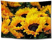 Schöne Goldene Sonnenblumen Wandteppich Helle