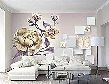 schöne handgemalte Pfingstrosenblume 3D-Tapete