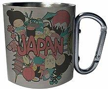 Schöne Japanreise Edelstahl Karabiner Reisebecher